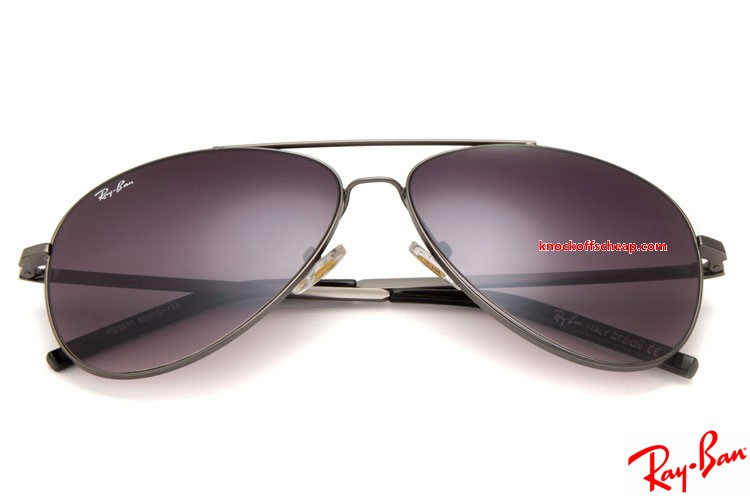 29eb0aead6e Cheap fake Ray Ban RB3811 Aviator sunglasses sale with Grey frame and  purple lenses