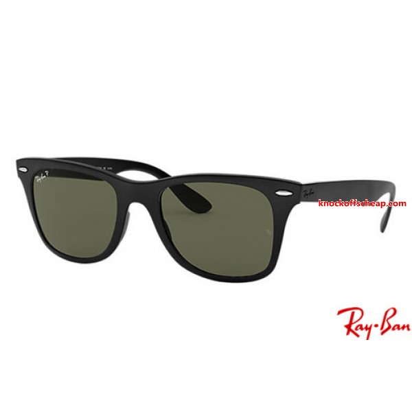 83f627bb0e ... purchase cheap ray bans rb4195 wayfarer liteforce with black frame and  green 5827d 22d2a
