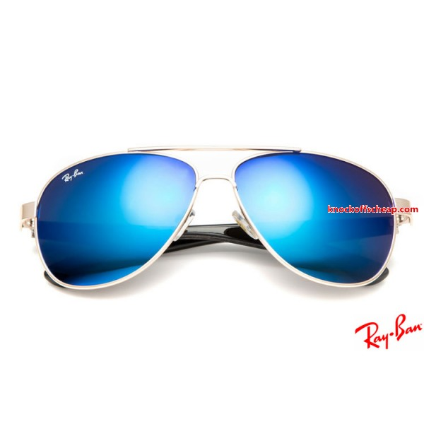 Cheaper Ray Ban RB8812 Aviator sunglasses with Gold frame and blue ...