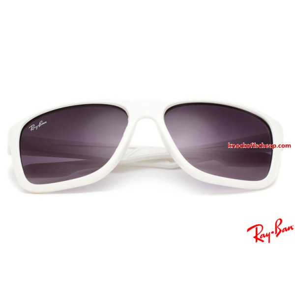 b504a75b9f Knockoff RayBans RB9122 Justin sunglasses with white frame and ...