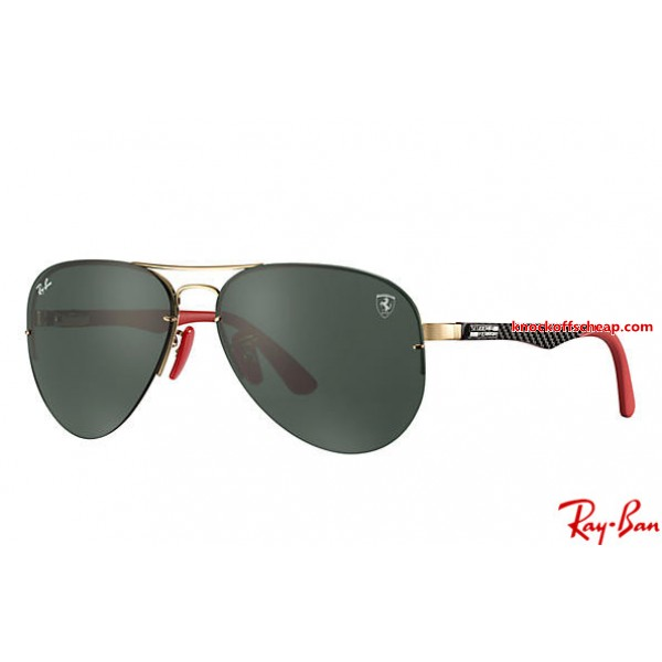 b067a00ea19 Fake Ray Bans RB3460M Scuderia Ferrari Collection with Gold  Black ...