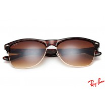 classic raybans kj2p  Ray Ban RB4175 Clubmaster Oversized Classic sunglasses with Tortoise frame  and tawny lenses