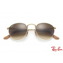 e439ce71e6 Ray Bans RB3447 Round Metal with Gold frame and Light Brown Gradient lenses