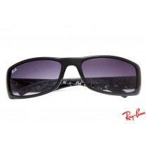 0eb1f9de8f Ray Ban RB4176 Active Lifestyle sunglasses with black frame and purple  lenses