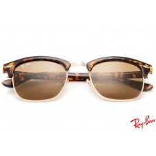 ray ban clubmaster cheap 4e0w  Ray Ban RB3016 Clubmaster sunglasses with tortoise frame and brown lenses