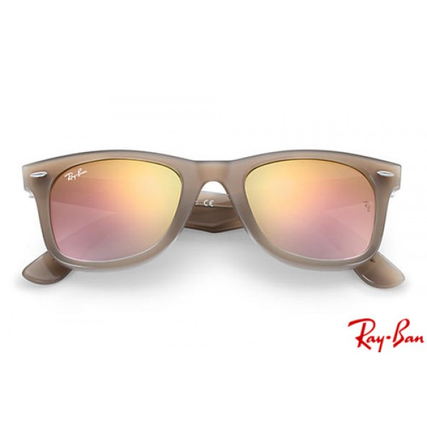 fae1de9d75 ... spain cheap ray bans rb4340 wayfarer ease with light brown frame and  6f84f c8a03