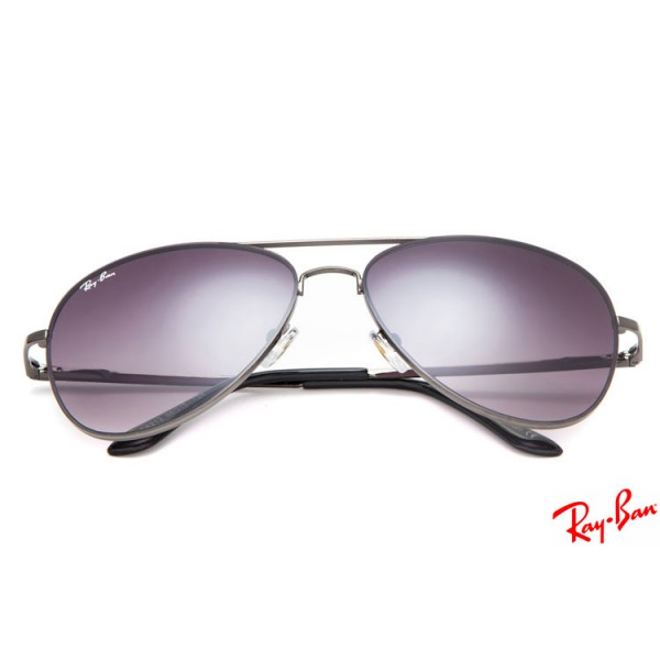Fake Ray Ban RB8212 Aviator sunglasses with gray frame and purple ...