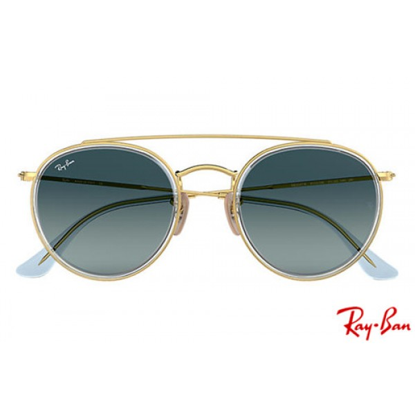 wholesale ray bans rb3647n round double bridge with gold frame and rh knockoffcheapraybans com